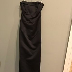 Black Strapless Gown, Worn Once